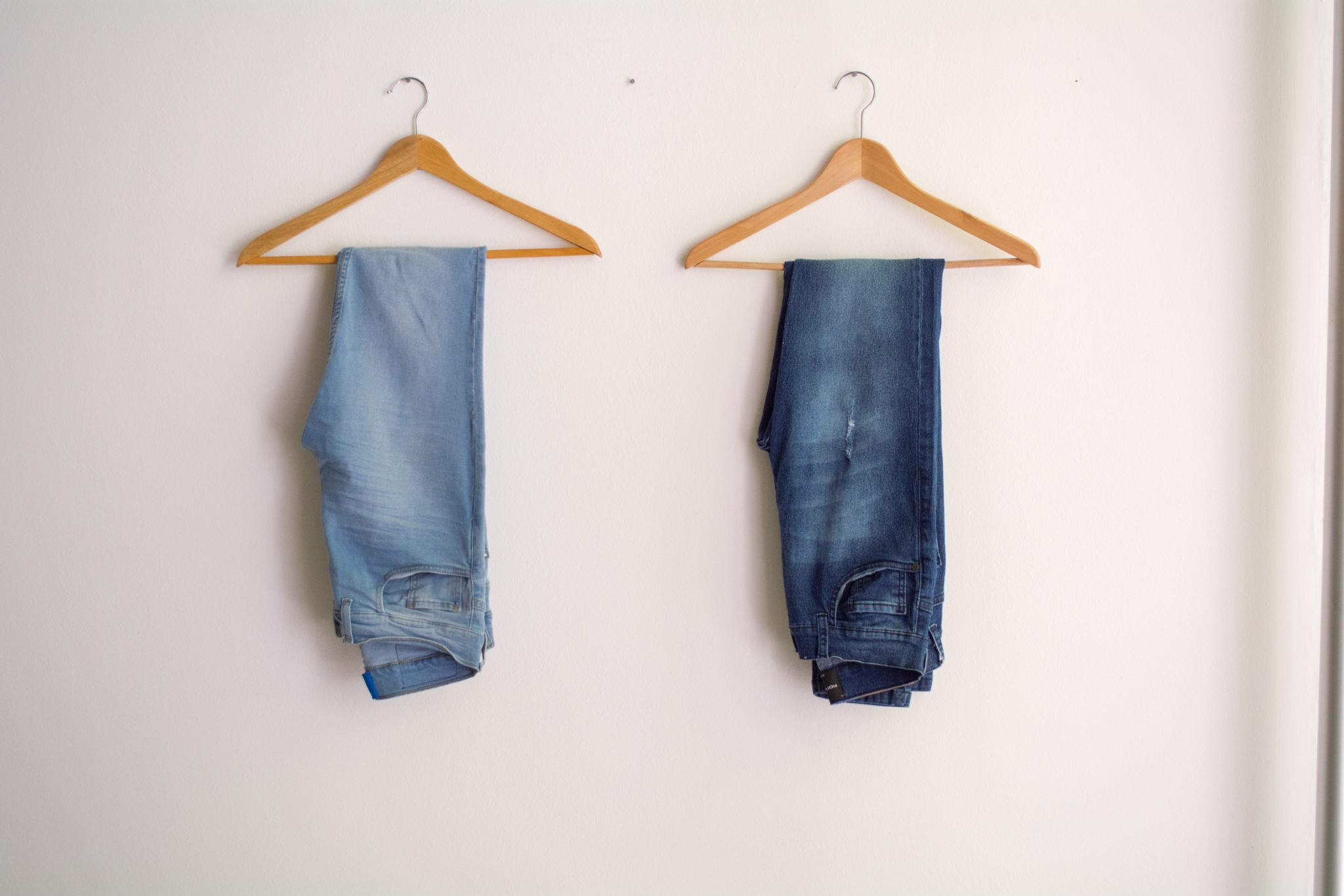 Wash and dry jeans and shrink